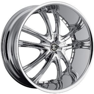 2Crave N21 20 Chrome Wheel / Rim 6x5.5 with a 35mm Offset and a 87 Hub Bore
