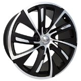 5X108 +45mm Flat Black/Machined Wheel Rim