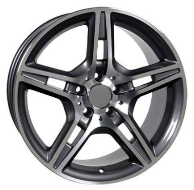 AMG Style Wheel with Machined Face Fits Mercedes Benz - Gunmetal 18x8.5