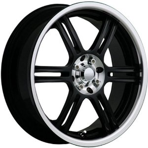 Akuza 424 17 Black Wheel / Rim 4x100 & 4x4.5 with a 45mm Offset and a 73 Hub Bore. Partnu