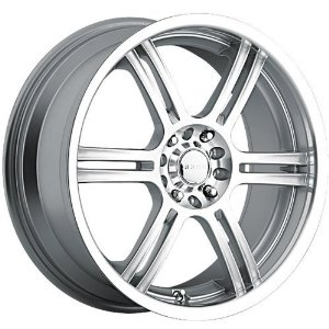 Akuza 424 17 Silver Wheel / Rim 4x100 & 4x4.5 with a 45mm Offset and a 73 Hub Bore. Partn