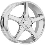 Akuza Axis 18 Chrome Wheel / Rim 4x100 & 4x4.5 with a 45mm Offset and a 73 Hub Bore. Part