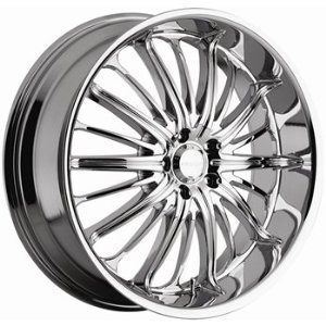 Akuza Belle 28x10 Chrome Wheel / Rim 5x5.5 with a 25mm Offset and a 110.00 Hub Bore. Part