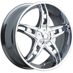 Akuza Genesis 17x7.5 Chrome Wheel / Rim 5x100 & 5x115 with a 35mm Offset and a 73.00 Hub