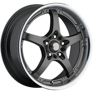 Akuza Intimidator 18 Black Wheel / Rim 4x100 & 4x4.25 with a 45mm Offset and a 73 Hub Bor