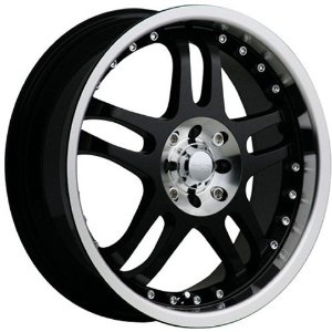 Akuza RPM 18 Black Wheel / Rim 5x100 & 5x4.5 with a 45mm Offset and a 73 Hub Bore. Partnu