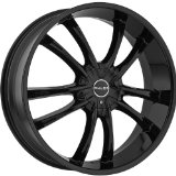 Akuza Shadow 20 Black Wheel / Rim 5x112 & 5x120 with a 35mm Offset and a 74.1 Hub Bore. P
