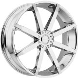 Akuza Zenith 18 Chrome Wheel / Rim 4x100 & 4x4.5 with a 45mm Offset and a 73 Hub Bore. Par