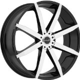 Akuza Zenith 18 Machined Black Wheel / Rim 5x4.25 & 5x4.5 with a 45mm Offset and a 74.1 H