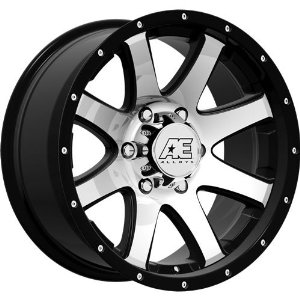 American Eagle 15 17 Super Finish Black Wheel / Rim 6x5.5 with a -5mm Offset and a 108.2