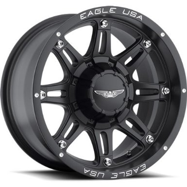 American Eagle 27 17 Matte Black Wheel / Rim 8x6.5 with a -11mm Offset and a 130.18 Hub