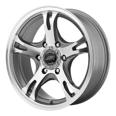 American Racing AR898 17x8 Silver Wheel / Rim 6x5.5 with a 0mm Offset and a 106.25 Hub Bo