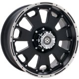 American Racing ATX Vice 17x9 Black Wheel / Rim 6x5.5 with a -12mm Offset and a 108.00 Hu