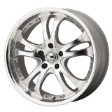 "American Racing Casino AR383 Silver Wheel with Machined Face And Lip (16x7""/5x4.5"")"