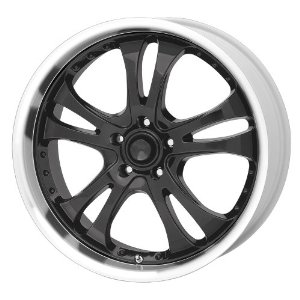 "American Racing Casino AR393 Gloss Black Wheel with Machined Lip (16x7""/5x110mm)"