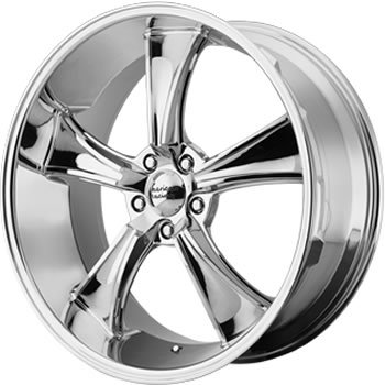 American Racing Vintage Boulevard 18 Chrome Wheel / Rim 5x5 with a 0mm Offset and a 78.3