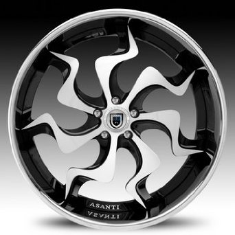 20 Inch Asanti VF-603 Chrome wheels 20x10 Asanti rims BP: