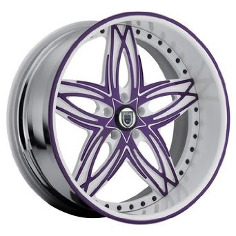 22 Inch Asanti AF-186 Chrome wheels 22x10 Asanti rims BP: