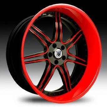 24 Inch Asanti AF-146 Chrome wheels 24x9 Asanti rims BP: