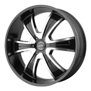 American Racing AR894 18x8 Black Wheel / Rim 5x4.75 & 5x5 with a 15mm Offset and a 78.10