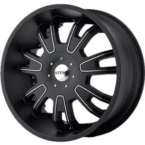 KMC KM664 20x8.5 Black Wheel / Rim 5x4.25 & 5x4.5 with a 38mm Offset and a 72.60 Hub Bore.