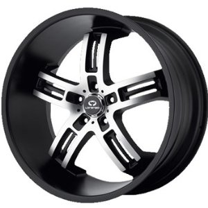 Lorenzo WL026 19x9.5 Black Wheel / Rim 5x4.5 with a 45mm Offset and a 72.60 Hub Bore. Part