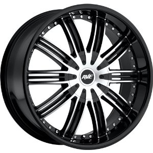 Avenue A603 22 Black Machined Wheel / Rim 6x5.5 with a 18mm Offset and a 106.10 Hub Bore.