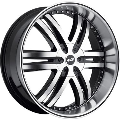 Avenue A607 20 Machined Black Wheel / Rim 6x135 & 6x5.5 with a 30mm Offset and a 100.00