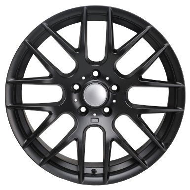 "19"" BMW ZCP CSL M-Competition Staggered Matte Black Wheels Rims (SET OF 4)"