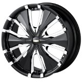 18x7.5 Baccarat Passion (1130) (Black) Wheels/Rims 5x112/120 (1130B-8709)