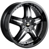 20x8.5 Baccarat Sync (1140) (Black) Wheels/Rims 5x114.3/120 (1140B-2804)