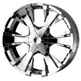 22x9.5 Baccarat Phang (2130) (Chrome) Wheels/Rims 5x127/135 (2130C-22953)