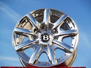 Bentley Continental GT/GTC/Flying Spur: Set of 4 genuine factory 19inch chrome wheels