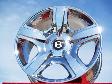 Bentley Continental GTC: Set of 4 genuine factory 19inch chrome wheels