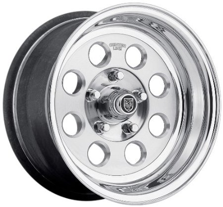"Center Line Dicer Series 765 Street Hawk Wheel with Hi-Polish Mirror Finish (15x12""/5x4.75"