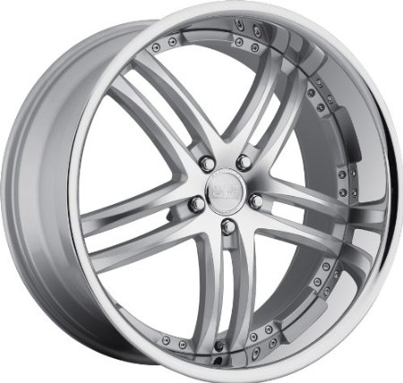 "Concept One 743 RS-55 Silver Machined Wheel with Painted Finish (22x9""/5x120mm)"