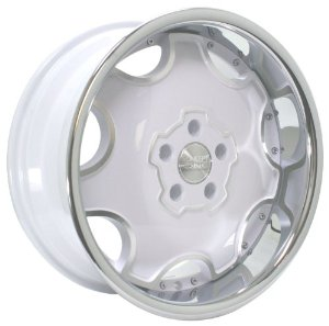 Concept One Dynasty (Series 714A) White with Chrome Lip - 18 x 8 Inch Wheel