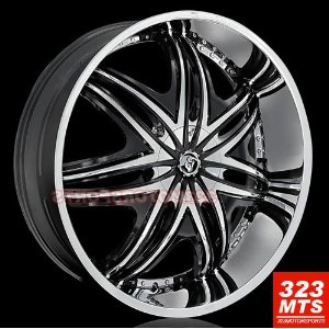 "Diablo Morpheus 28"" Hummer H2 Chrome Wheels"