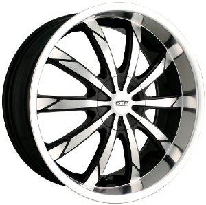 "DIP Slack D66 Black Wheel with Machined Face and Lip (20x8.5"")"