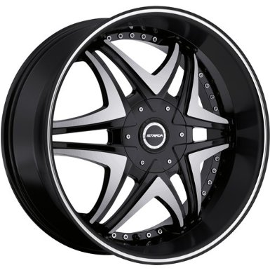 Strada Dolce 22 Black Wheel / Rim 6x4.5 & 6x5.5 with a 18mm Offset and a 78.1 Hub Bore. P