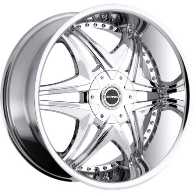 Strada Dolce 22 Chrome Wheel / Rim 5x4.5 & 5x120 with a 18mm Offset and a 74.1 Hub Bore.