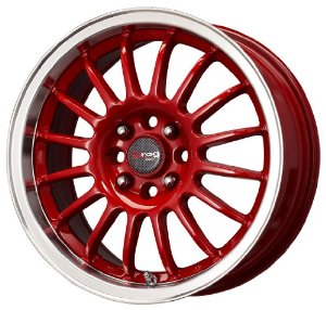 "Drag DR-41 Red Wheel with Machined Lip (15x7""/4x100mm)"