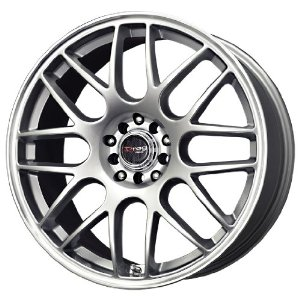 Drag DR-34 Silver Machined Lip 17 Inch Wheel