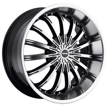 Dropstars 640 18x8 Machined Black Wheel / Rim 5x4.25 & 5x4.5 with a 40mm Offset and a 73.