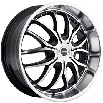 Dropstars 641 20x8.5 Machined Black Wheel / Rim 5x4.25 & 5x4.5 with a 38mm Offset