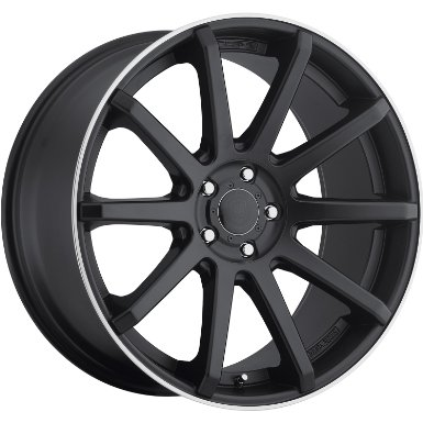 Dropstars 643B 20 Black Wheel / Rim 5x4.25 & 5x115 with a 40mm Offset and a 73 Hub Bore.