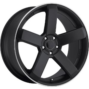 Dropstars 644B 24 Black Wheel / Rim 5x4.5 & 5x4.75 with a 20mm Offset and a 83.82 Hub Bore
