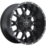 Dropstars 645B 18 Black Wheel / Rim 8x6.5 with a 0mm Offset and a 130.18 Hub Bore.