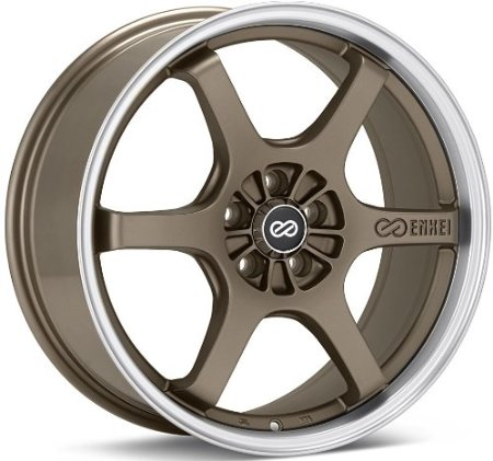 Enkei SR6 (18 x 8, 5 x 114.3) 50mm Offset, Matte Bronze, (1) Wheel/Rim