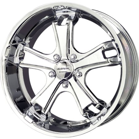 Liquid Metal F5 17 Chrome Wheel / Rim 5x115 with a 40mm Offset and a 70.28 Hub Bore.